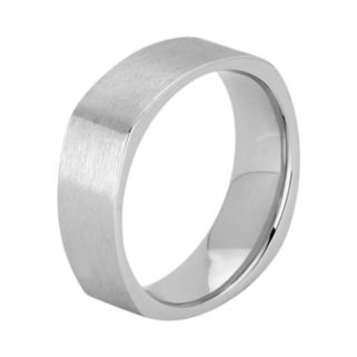 Cobalt Chrome Semi Square Wedding Band - Men