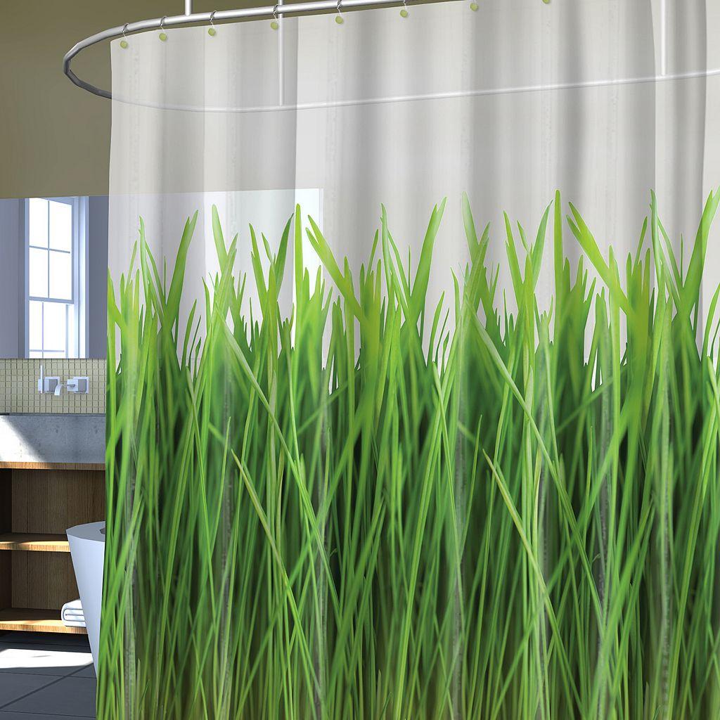 Splash Home Green Grass Vinyl Shower Curtain