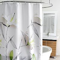 Splash Home Lillies Fabric Shower Curtain