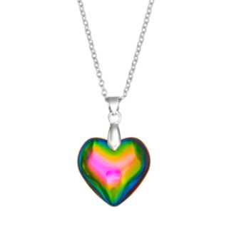 SO Silver Tone Heart Pendant