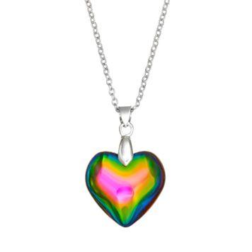 SO® Silver Tone Heart Pendant