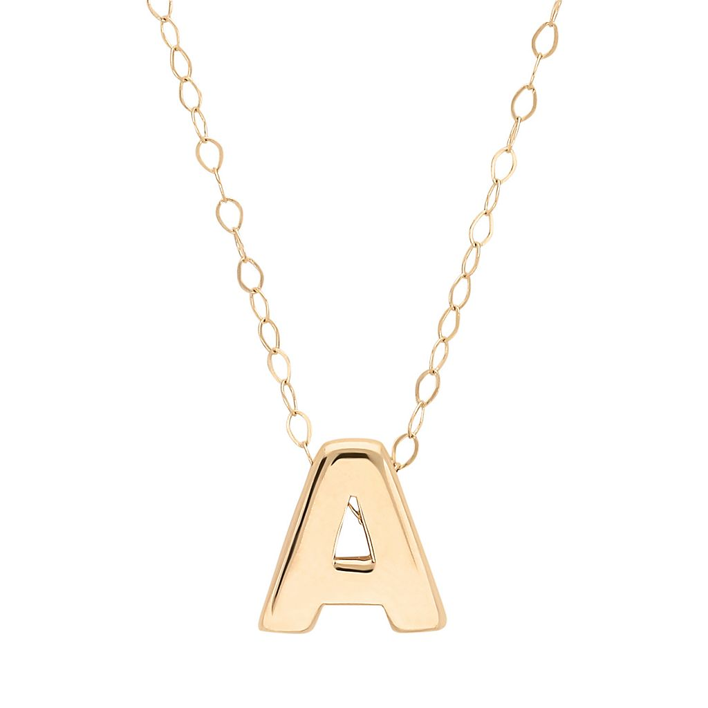 Teeny Tiny by Everlasting Gold 10k Gold Initial Pendant