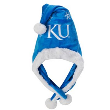 Adult Forever Collectibles Kansas Jayhawks Thematic Santa Hat