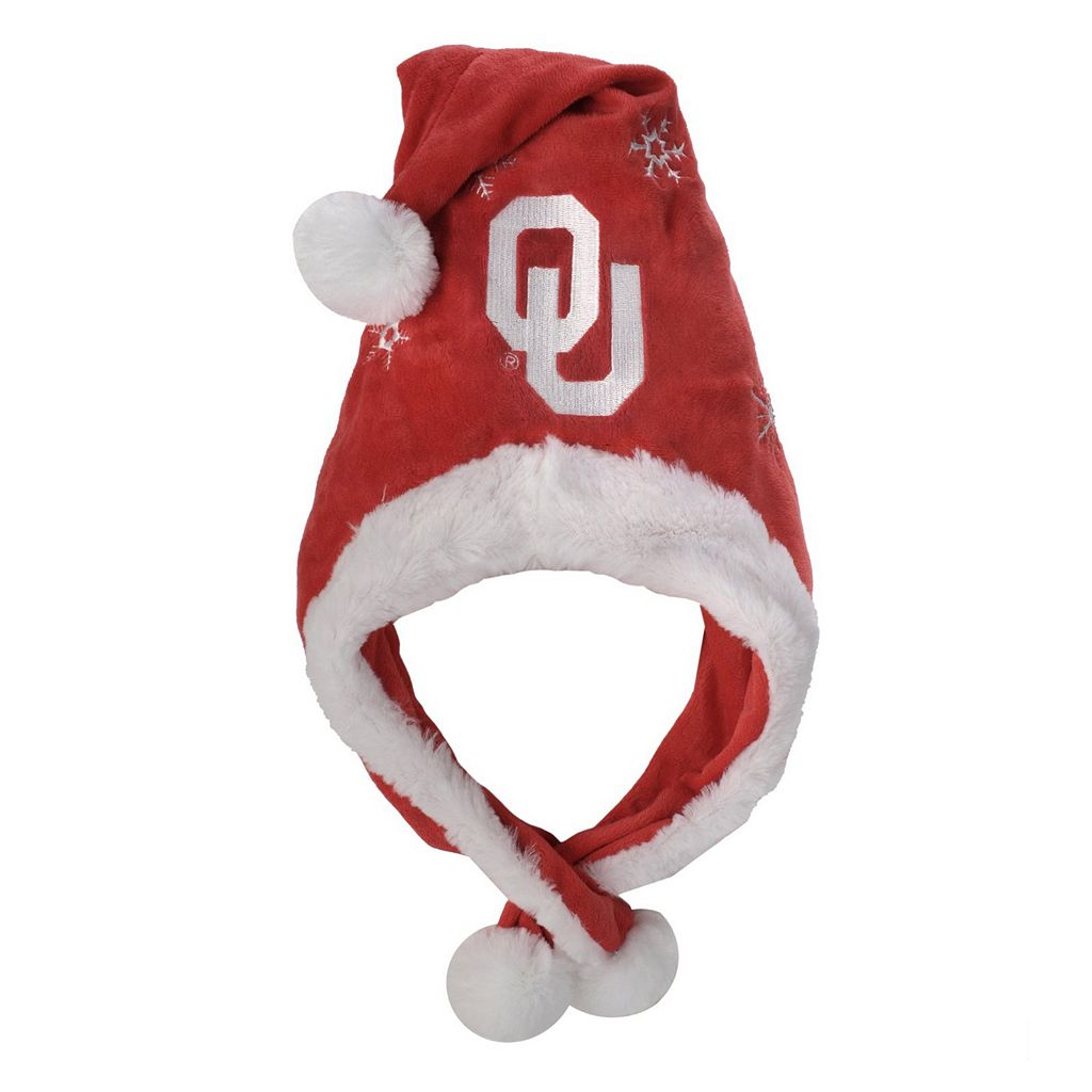 Adult Forever Collectibles Oklahoma Sooners Thematic Santa Hat