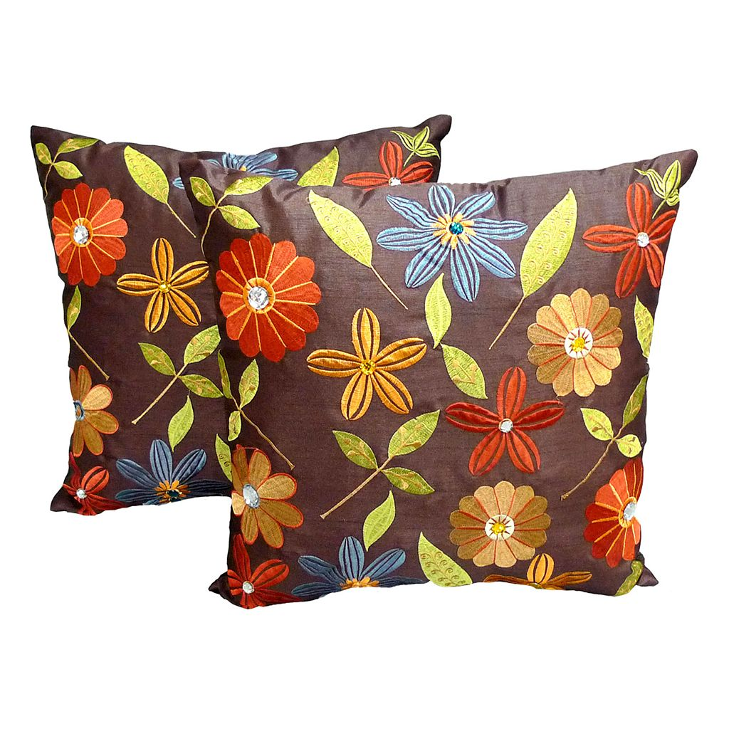 Essentials Milena Embroidered Floral 2-pk. Decorative Pillows