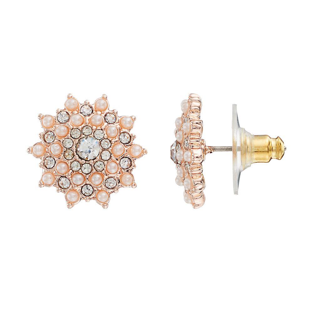 LC Lauren Conrad Simulated Pearl Starburst Stud Earrings