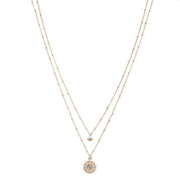 LC Lauren Conrad Freshwater Cultured Pearl Starburst Double Pendant