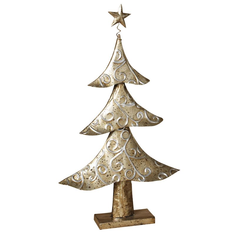 White Metal Christmas Decor
