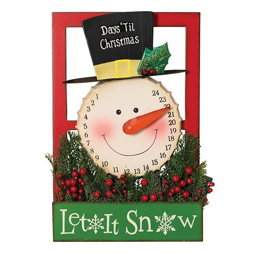 gerson snowman let it snow christmas countdown calendar wall decor