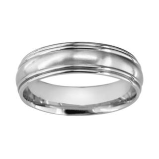 Titanium Convex Center Wedding Band - Men