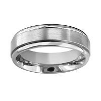Men's Titanium Raised Center Wedding Band
