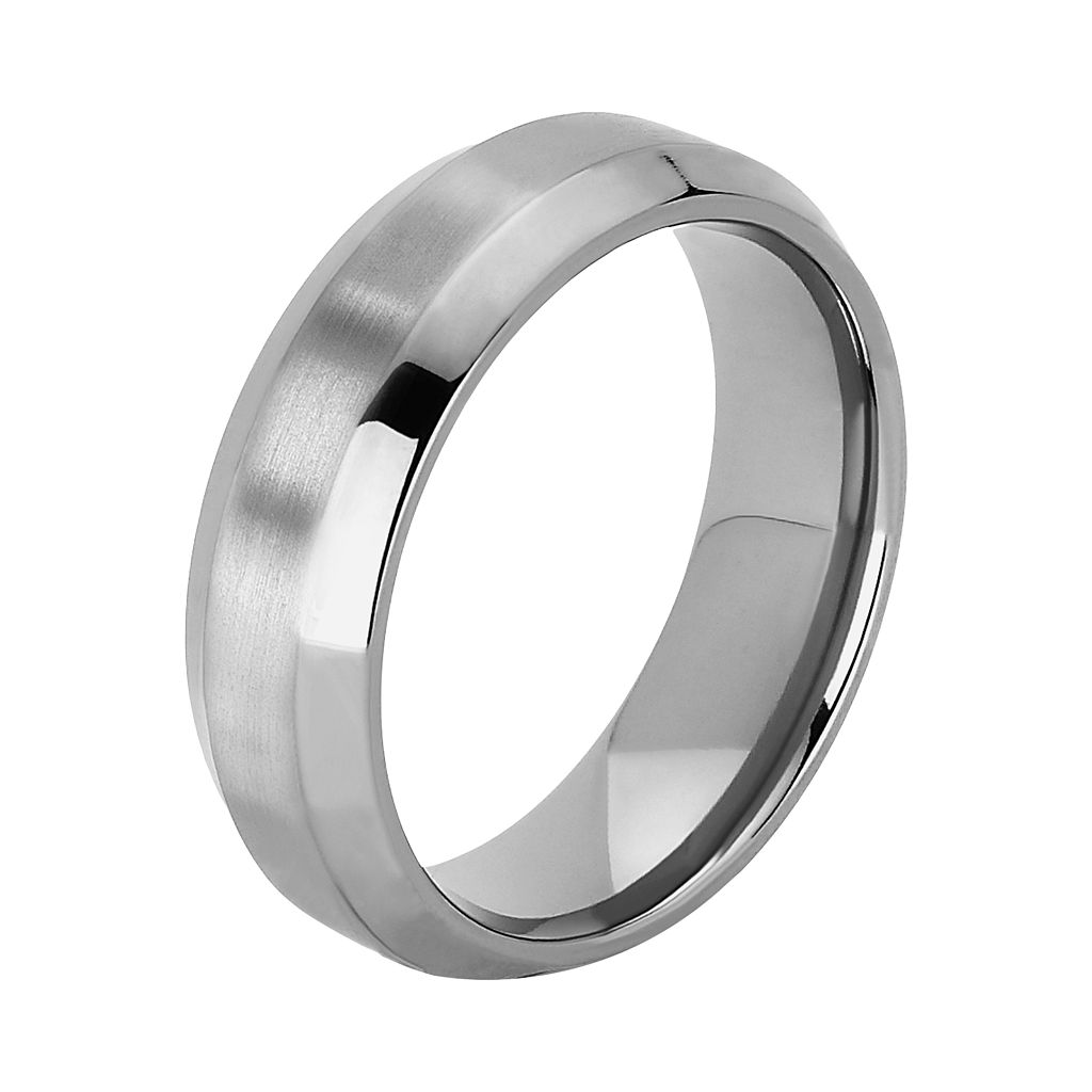 Titanium Beveled Wedding Band - Men