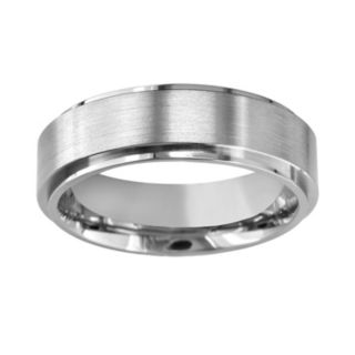 Titanium Raised Center Wedding Band - Men