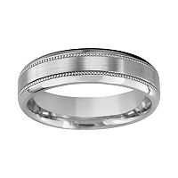Titanium Milgrain Wedding Band - Men