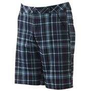 FILA SPORT GOLF Plaid Flat-Front Performance Shorts