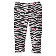 Jumping Beans Zebra and Heart Leggings - Baby