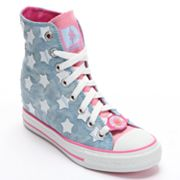 Skechers Daddy's Money Gimme Starry Skies Wedge Sneakers - Women