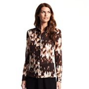 Derek Lam for DesigNation Floral Chiffon Blouse