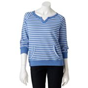 SONOMA life + style Striped French Terry Sweatshirt - Petite