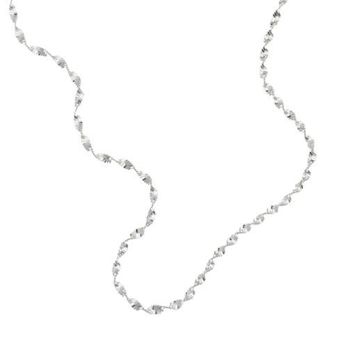 Sterling Silver Butterfly Twist Necklace - 16-in.