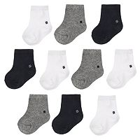 Baby Boy Jumping Beans® 10-pk. Solid Crew Socks