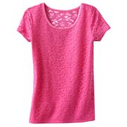 SO Floral Eyelet Tee - Girls 7-16