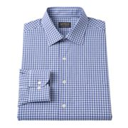 Arrow Classic-Fit Checked Spread-Collar Dress Shirt