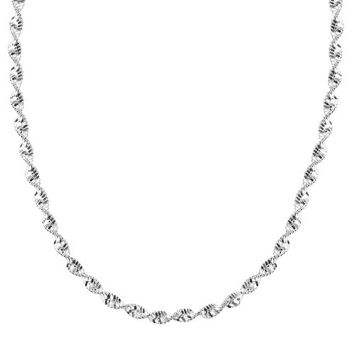 PRIMROSE Sterling Silver Butterfly Twist Chain Necklace - 18 in.