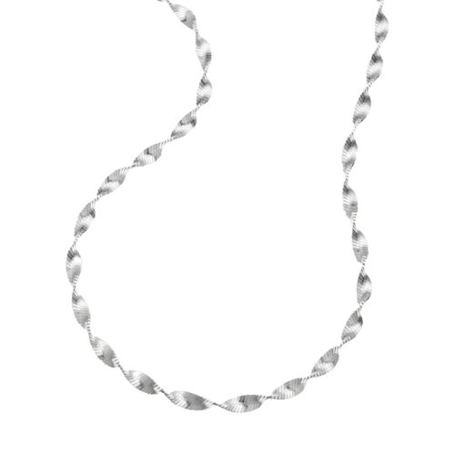 Sterling Silver Butterfly Twist Chain Necklace - 20-in.