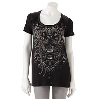Rock & Republic® Scroll Embellished Tee