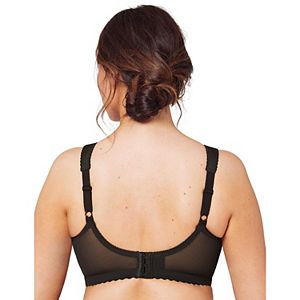 Glamorise Bra: Magic Lift Sheer Lace Wire-Free Full-Figure Support Bra 1000