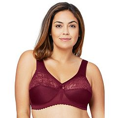 Glamorise Bra: Magic Lift Sheer Lace Wire-Free Full-Figure Support Bra 1000