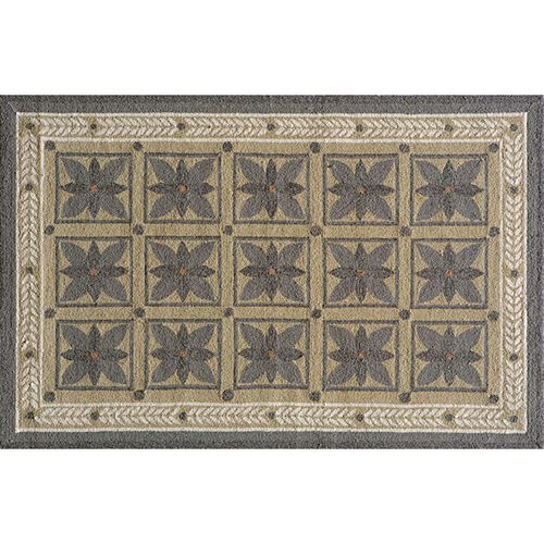 Momeni Veranda Framed Floral Indoor Outdoor Rug - 3' 9