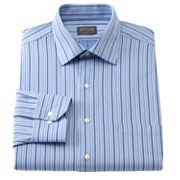 Arrow Classic Fit Striped Poplin Spread-Collar Dress Shirt
