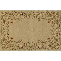 Momeni Veranda Floral Scroll Indoor Outdoor Rug - 2' x 3'