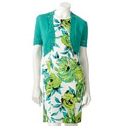 AB Studio Floral Sheath Dress and Shrug Set