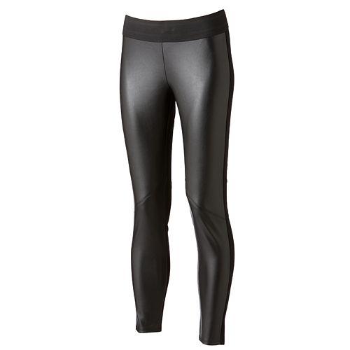 1b019ed148c7b Rock & Republic® Pieced Faux-Leather Leggings