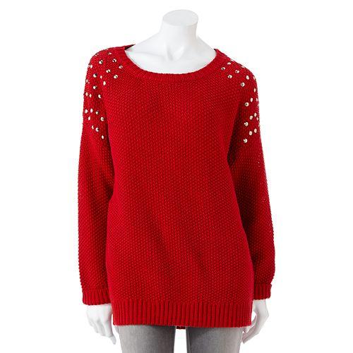 Mudd® Studded Sweater - Juniors