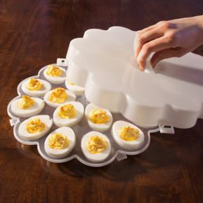 Chef Buddy 4-pc. Covered Egg Tray Set