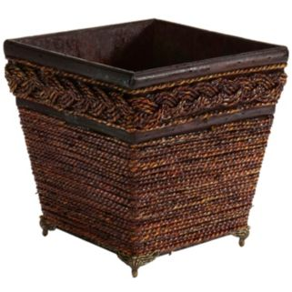 nearly natural Lacquered Braided Decorative Planter