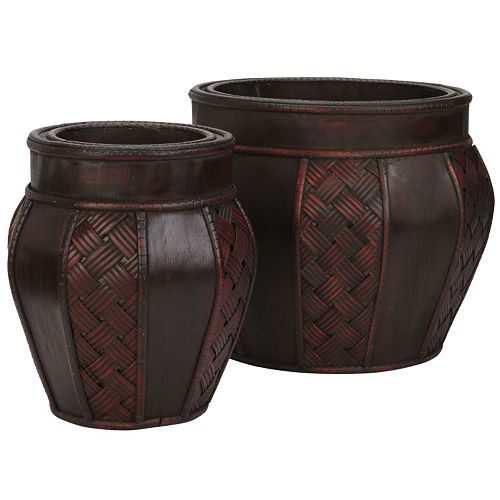 nearly natural 2-pc. Weave Decorative Planter Set