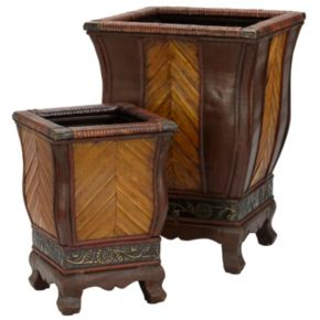 nearly natural 2-pc. Floral Decorative Planter Set