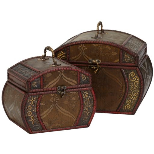 nearly natural 2-pc. Floral Decorative Chest Set