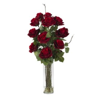 nearly natural Liquid Illusion Silk Rose Floral Arrangement