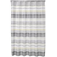Spring Garden Striped Fabric Shower Curtain