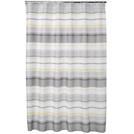 Spring Garden Striped Fabric Shower Curtain