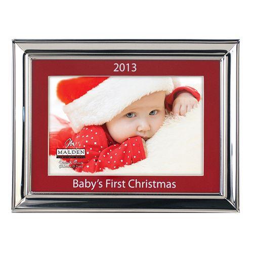 Malden Babys First Christmas 4 X 6 Matted Frame