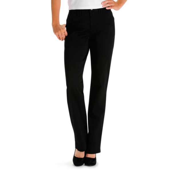 Lee Sinfully Soft Comfort Waist Twill Straight-Leg Pants