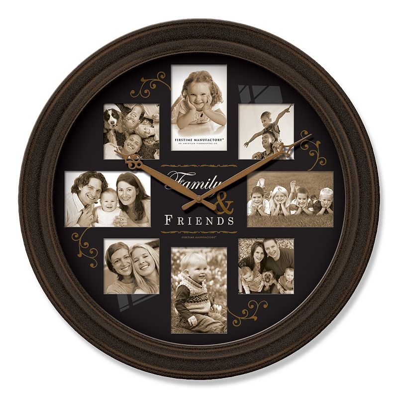 firstime firstime family frame wall clock black questions