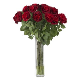 nearly natural Large Liquid Illusion Silk Rose Floral Arrangement